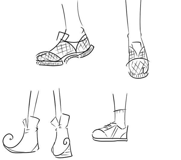 动漫人物鞋怎么画图解_360问答
