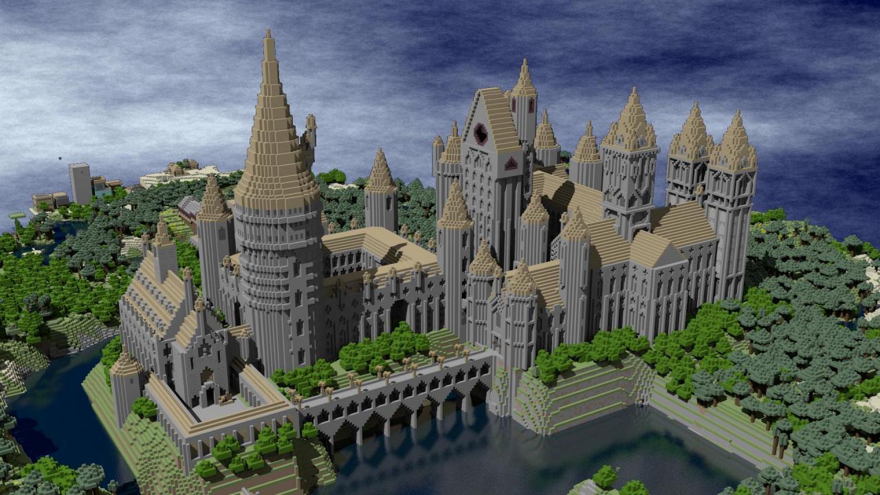 minecraft-建设霍格沃兹城堡