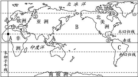 (1)写出a点的经纬度:经度