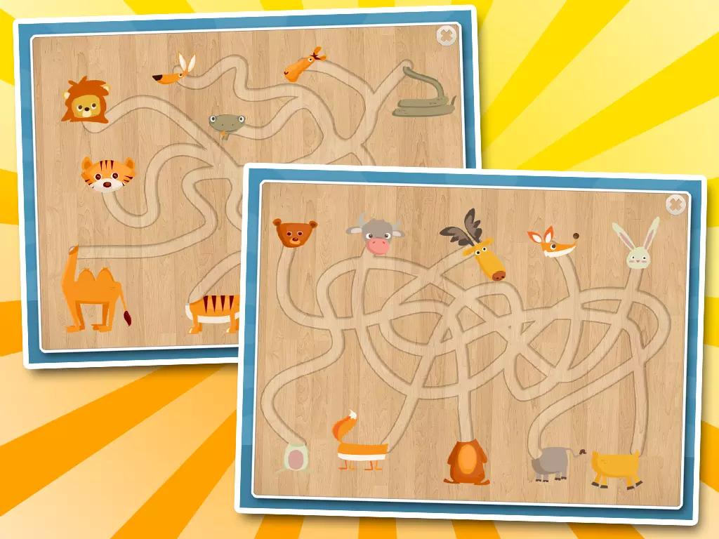 每个迷宫的设计练习孩子的手指技巧.