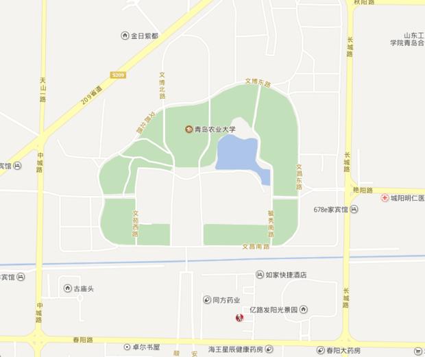 青岛农业大学在什么街道?