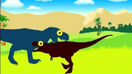 恐龙动画片 侏罗纪世界 恐龙世界 恐龙总动员 恐龙乐园儿童玩具视频47