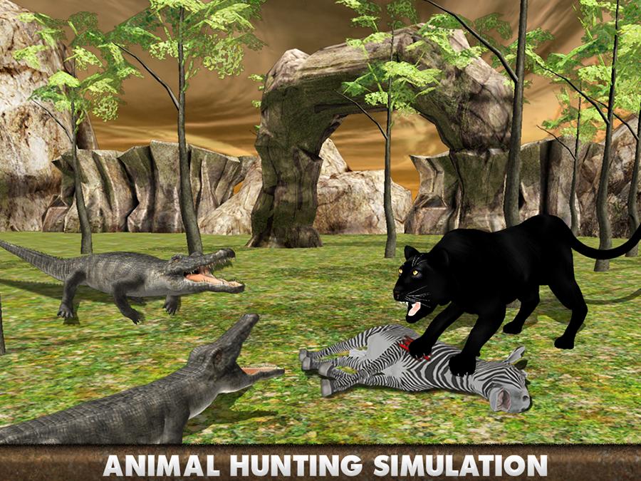 """""""进入荒野,在这个野生动物的模拟器你的猎物发挥真正的黑豹和追捕。豹是一个积极的野兽攻击和狩猎为食。统治森林狩猎的动物,如鹿,斑马,熊,狼,鳄鱼和马。体验黑豹住在森林的生活。丛林中的动物都吓得黑豹的所以要小心狂欢对他们的攻击。是凶猛的野兽,继续狩猎系列在3D野生豹模拟器游戏。走出困境,对野生动物的动物的攻击,统治森林的野生和凶猛的本性。你曾经玩过的野生动物模拟器游戏?那些谁爱打野生动物和其他动物的模拟器游戏一定会喜欢玩黑豹3D SIM卡。豹永远不会被吓到了老虎,狮子还是因为他饿了,野性猎豹。森林环"""