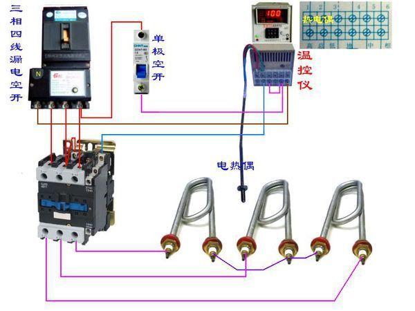 求助 德力西cjx2 6511交流接触器 380v 连接tmtd-2001数显调节仪 接线