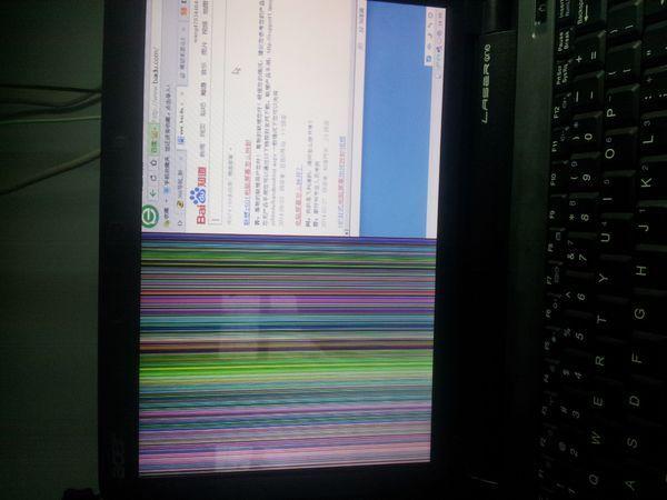 宏基笔记本电脑屏幕一半花屏一半正常