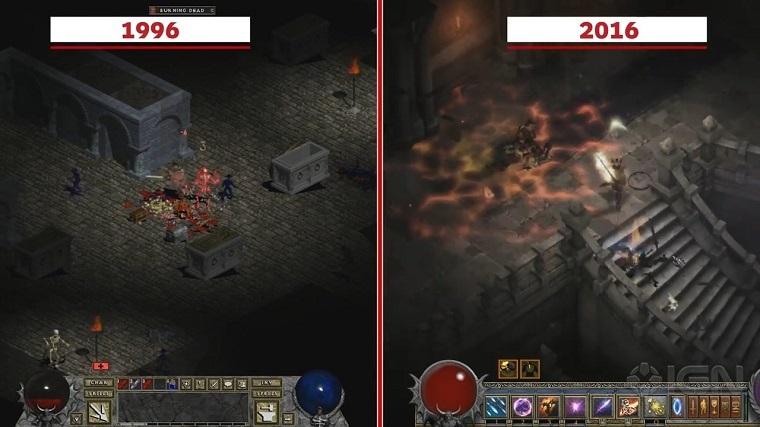 《暗黑1》重制版和原版对比