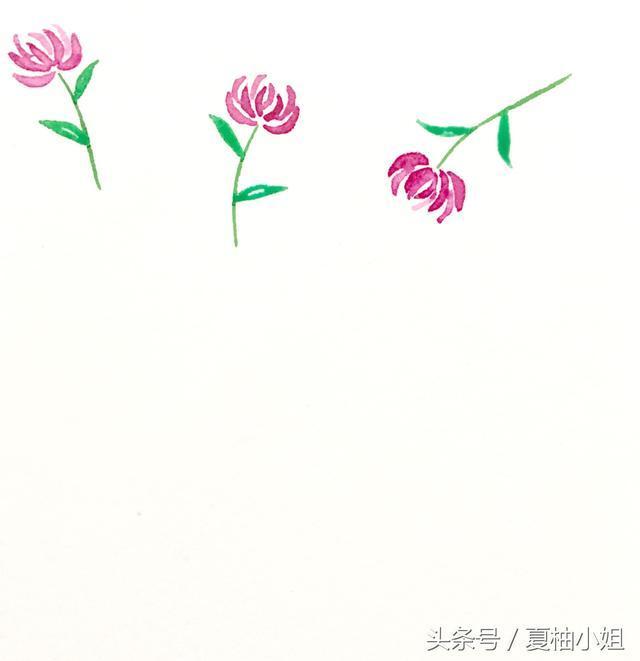 如何用水彩画简单的小清新花草