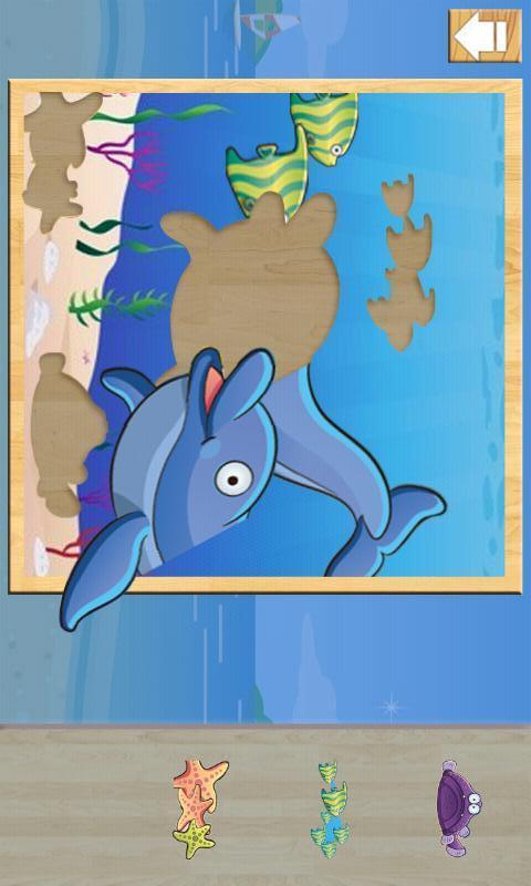 海洋对孩子拼图 1.