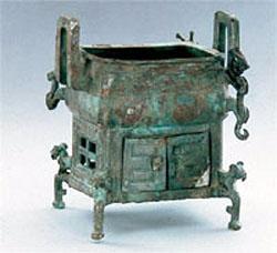 刖刑奴隶守门青铜方鼎图片