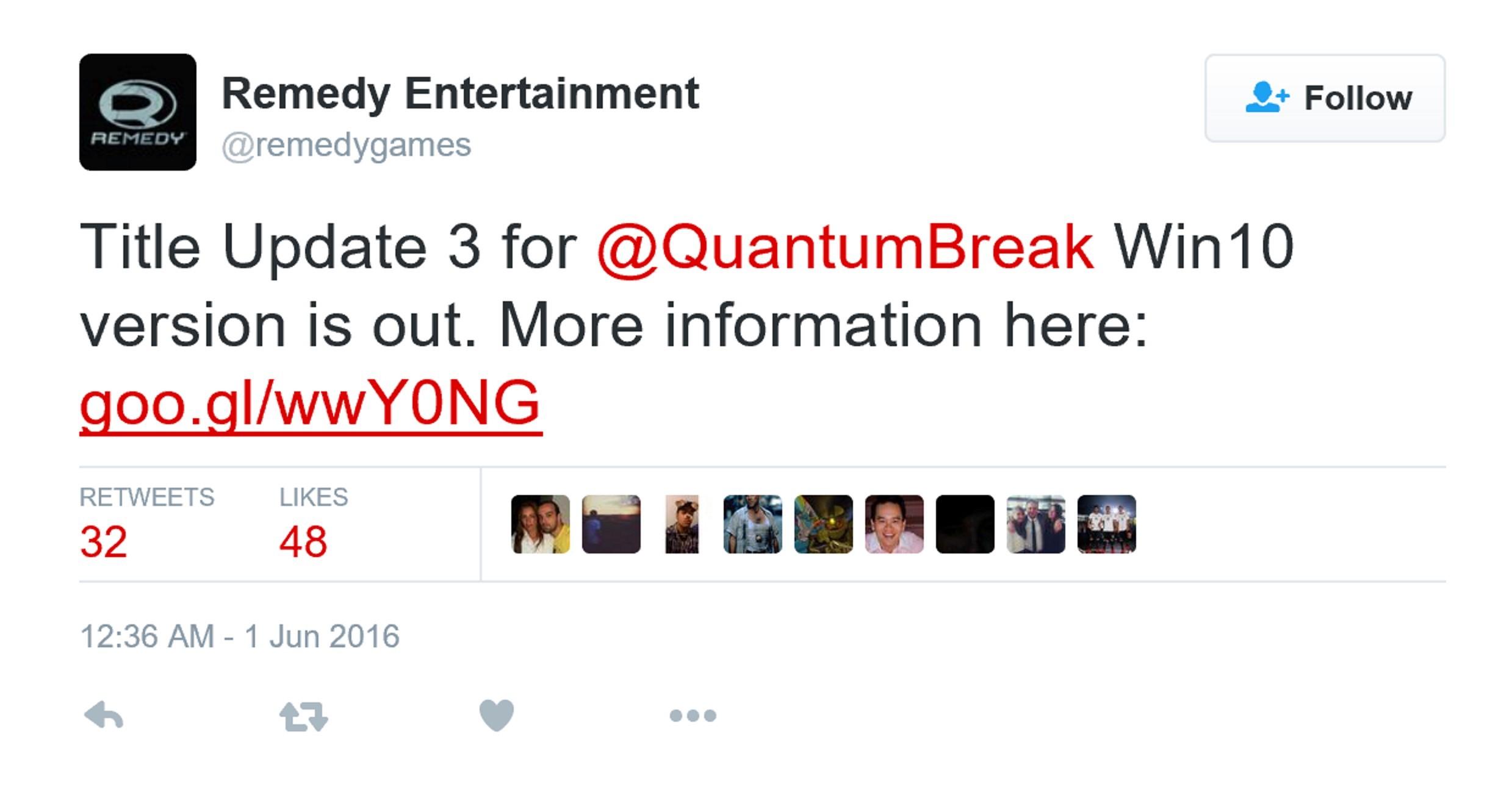 《量子破碎》全新补丁
