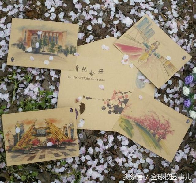 青春纪念册!贵州大学生手绘大学四年青春时光