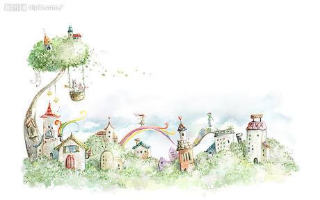 儿童简笔画城堡图片