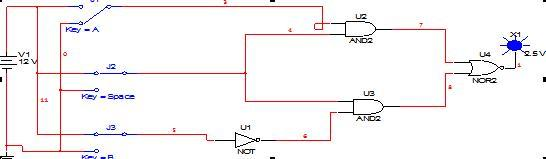 组合逻辑电路是指在任何时刻,输出状态只决定于同一时刻各输入状态的组合,而与电路以前状态无关,而与其他时间的状态无关。其逻辑函数如下: Li=f(A1,A2,A3An) (i=1,2,3m) 其中,A1~An为输入变量,Li为输出变量。 组合逻辑电路的特点归纳如下:  输入、输出之间没有返馈延迟通道;  电路中无记忆单元。 对于第一个逻辑表达公式或逻辑电路,其真值表可以是惟一的,但其对应的逻辑电路或逻辑表达式可能有多种实现形式,所以,一个特定的逻辑问题,其对应的真值表是惟一的,但实现它的逻辑电路是多