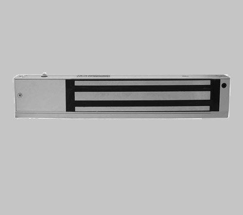 磁力锁(或称电磁锁)的设计和电磁铁一样,是利用电生磁的原理,当