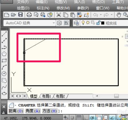CAD倒角画?_360问答平开窗风图安装撑cad图片