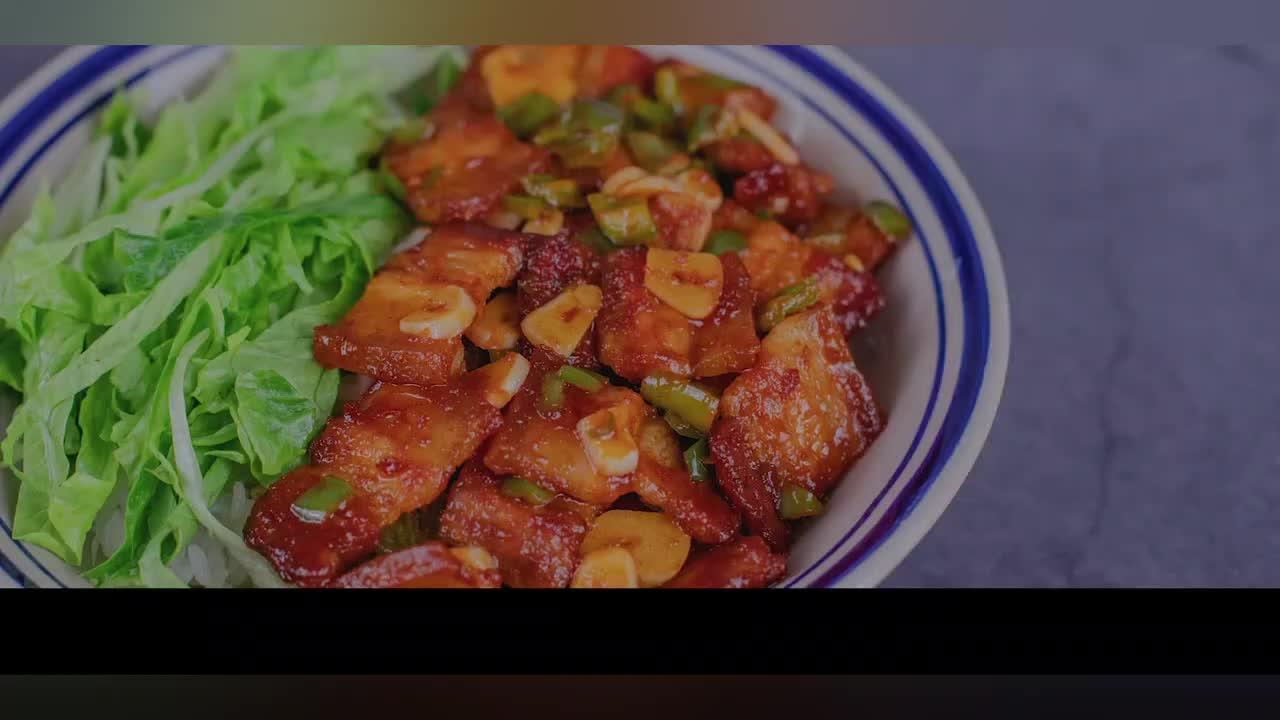 美食推荐:五花肉拌饭.