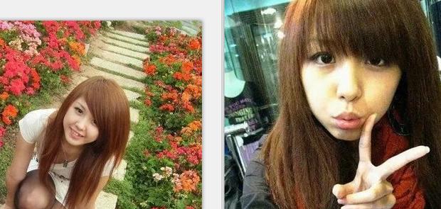 这个女孩的照片是不是同一个人