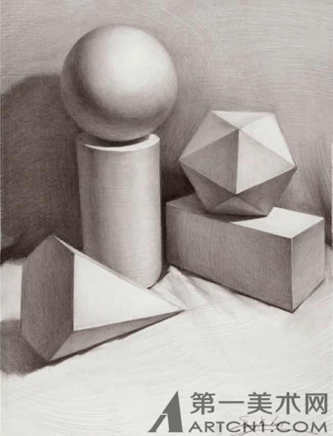 立体素描画画图片