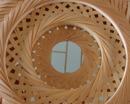 竹子木雕镂空屏风图案
