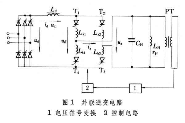 具有并联谐振式负载的为了提高负载端的尽管并联逆变电路的输出电流