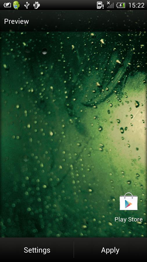 雨滴桌面天气素材