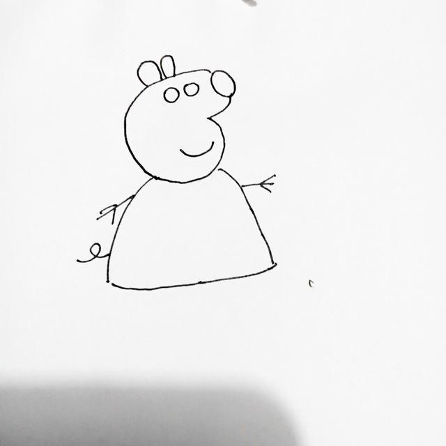 幼儿创意简笔画|小猪佩奇,一点都不难哦!图片