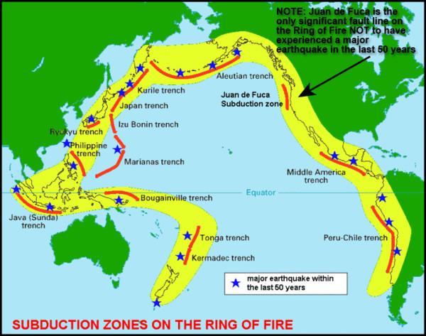 爪哇诸岛构成的弧-海沟系,火山近400座,其中129座是活火山,这里仅1966
