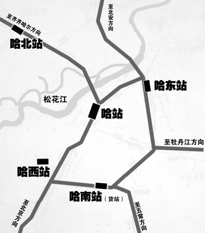 哈尔滨北站哈尔滨火车站北站具体建设地点规划在松北区庙台子,是王