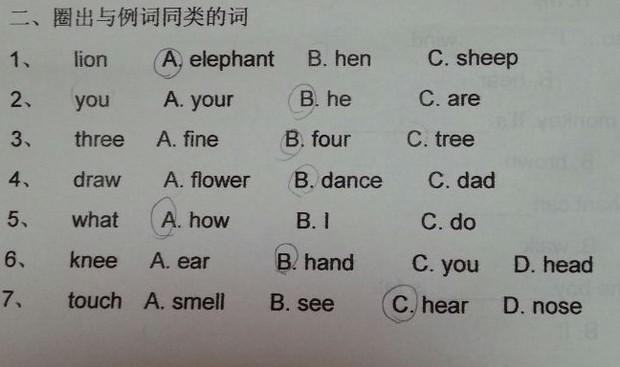 动物身体部位 英语