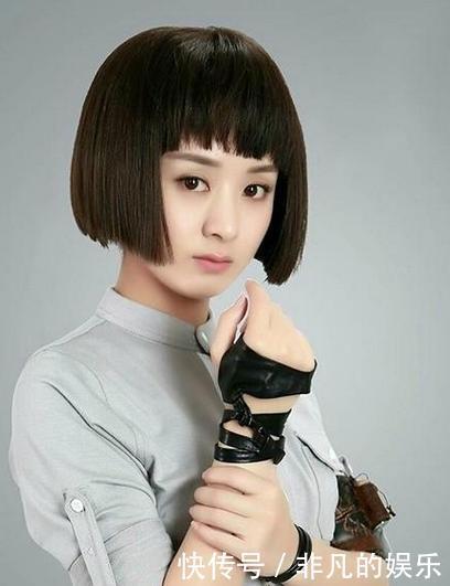 每个人都有适合自己的发型,像赵丽颖就不适合这种生硬的短发学生头图片