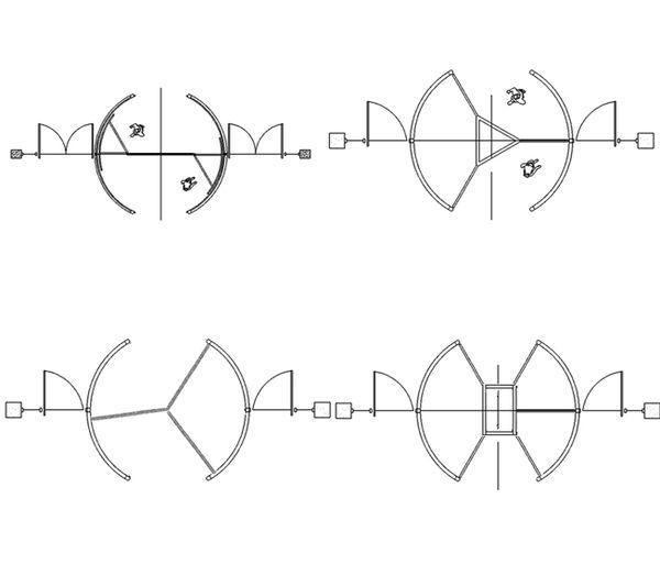 显示平面图中画法推拉门,旋转门的命令,请教!_2010cad栏建筑玻璃怎么图片
