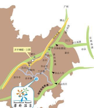 康桥温泉交通地图