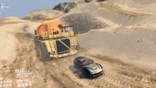"""旋转轮胎:跑车拉""""巨无霸""""油罐车上坡,结果出乎意料!"""