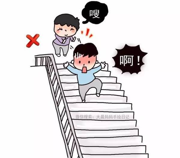学生上楼梯简笔画