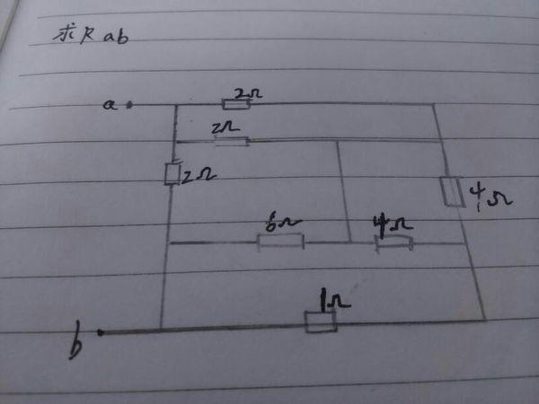 怎么求如图所示 电路rab的等效电阻!