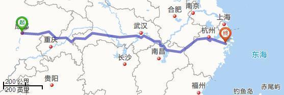 四川与浙江宁波的距离是多少公里?
