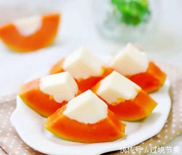 木瓜牛奶冻,入口Q弹做法简单,可当做果冻零食