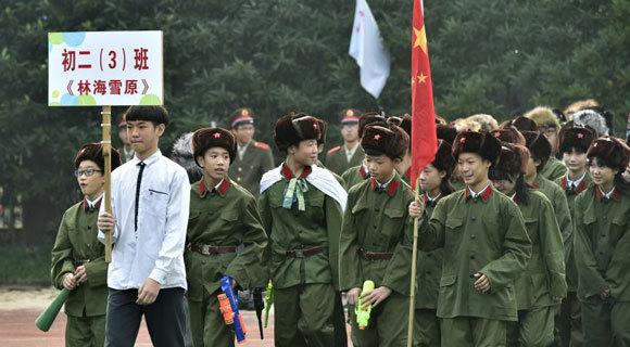 杭州一中学运动会创意多