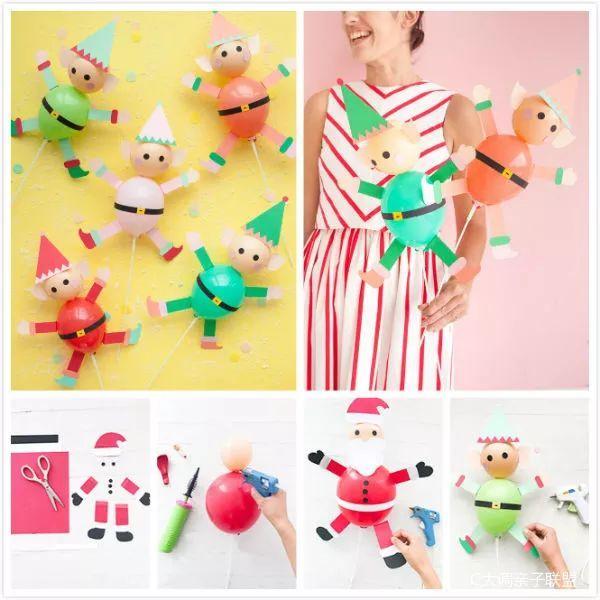 材料:气球,彩纸,剪刀,胶枪 和上方做气球小动物的方法类似,用彩纸剪