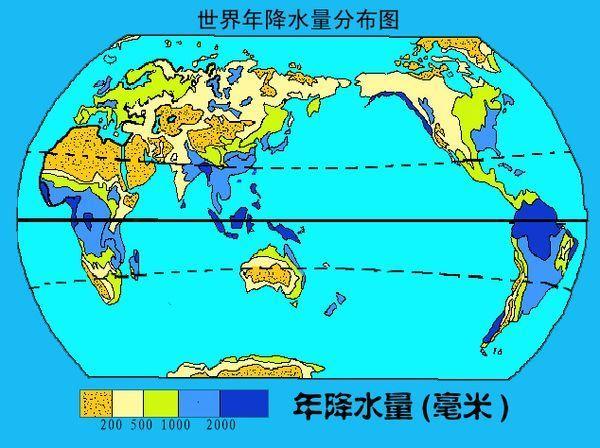 世界降水分布图片