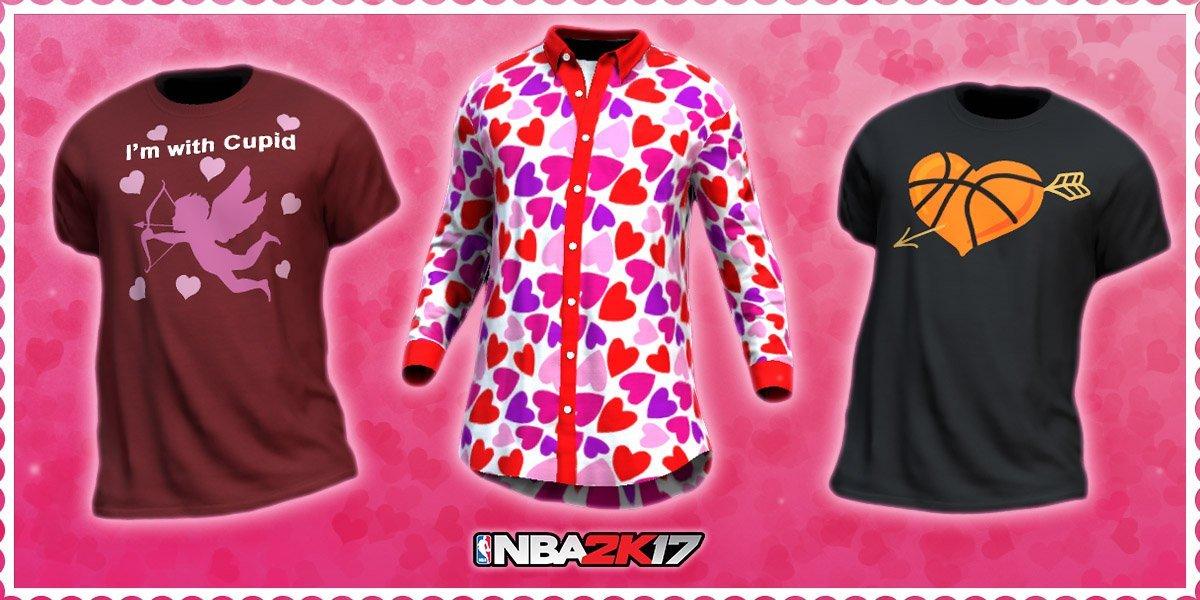 NBA2K17情人节推主题T恤