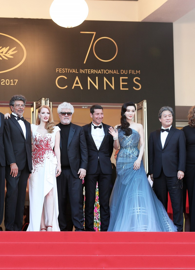 范冰冰出席第70届戛纳电影节闭幕式