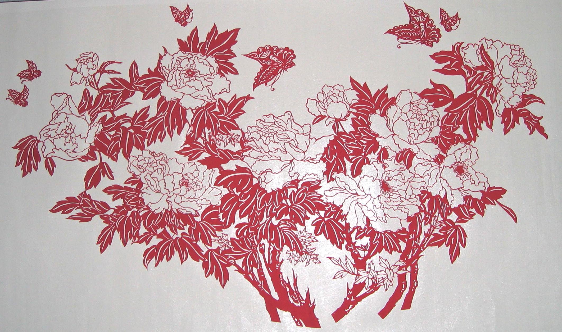 在新中国成立之前就已经出现了剪纸这个农家自娱自乐的节目.