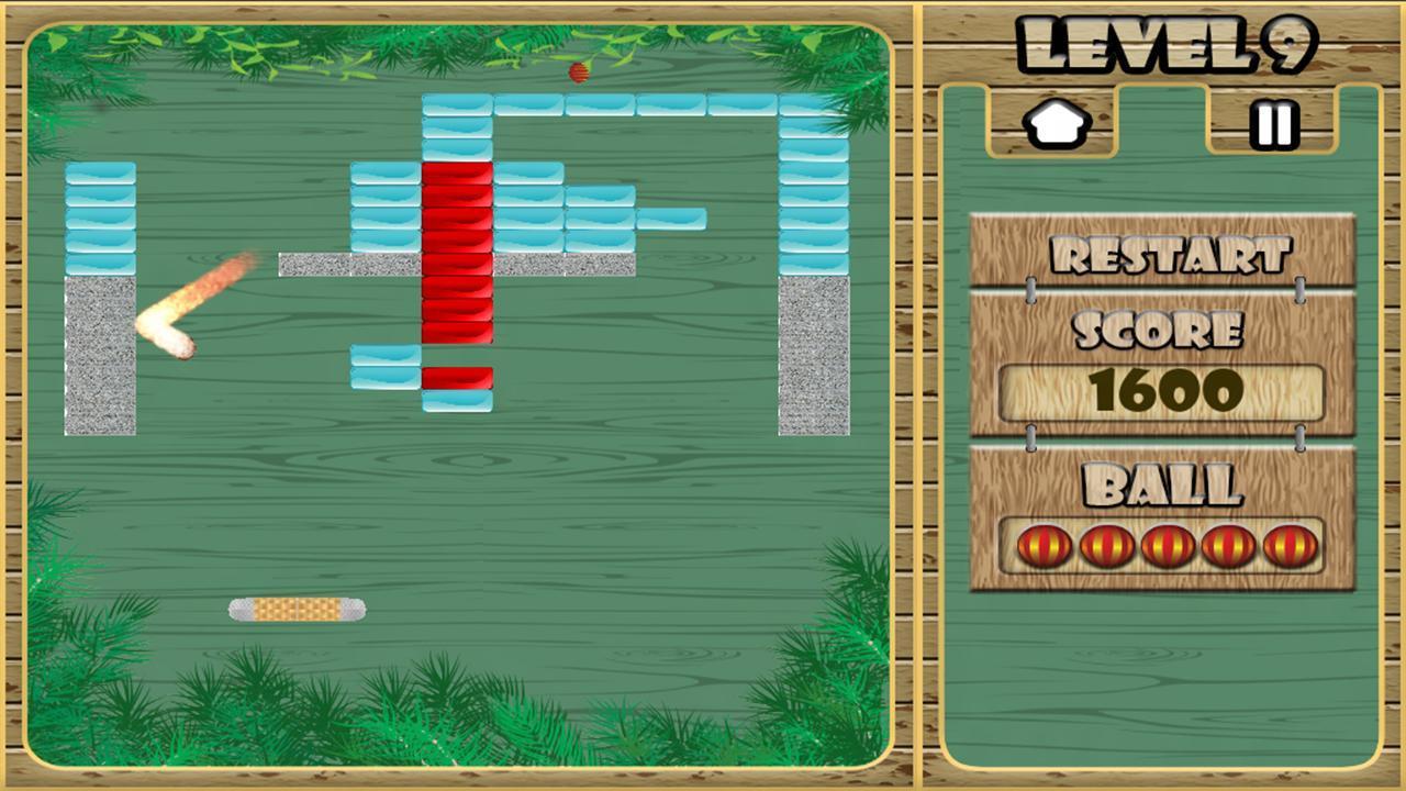 start --> 软件介绍 《趣味打砖块BreakBrick!FunForyou!》是一款有趣的休闲游戏,尽情享受打砖块的乐趣吧,游戏还有独特的天气变化效果、十分独特动感的音乐、有趣的游戏环节。喜欢打砖块游戏的你不容错过哦!
