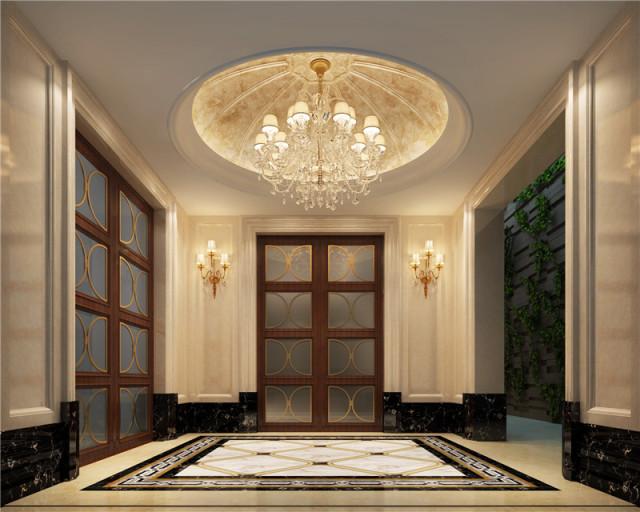 远大美域210平跃层欧式风格装修设计-玄关效果图