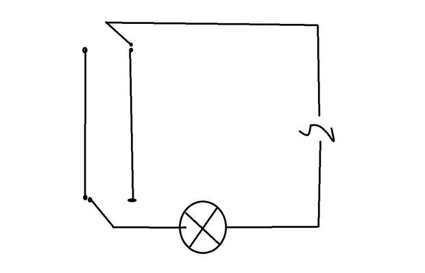 怎样一个灯泡两个开关控制 求电路图