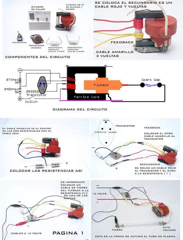 怎样用irfp250推动黑白电视机高压包升压电路图