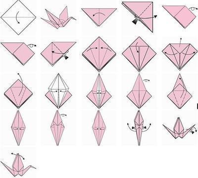 折千纸鹤步骤图