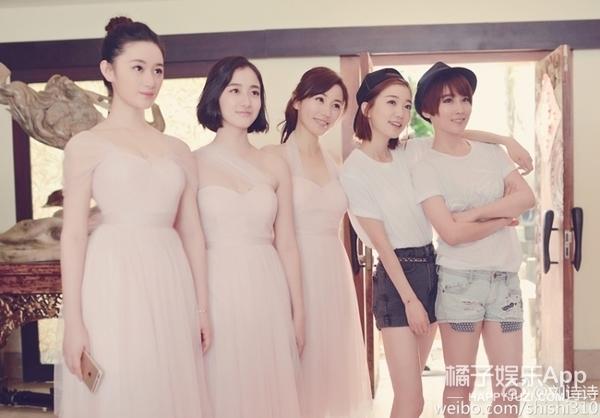 谢楠叶青郭晓婷,刘诗诗和她们9年的友情真不是塑料花友谊图片