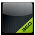 360桌面主题-颜色系列炫酷黑